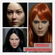 "45.00$  Watch now - http://alimi9.shopchina.info/1/go.php?t=32445492260 - ""KUMIK 1/6 Scale figure doll Beauty head shape.doll head for DIY12"""" Female action figure doll headsculpt.Figure accessories""  #buyininternet"