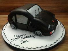 Porsche carved birthday cake