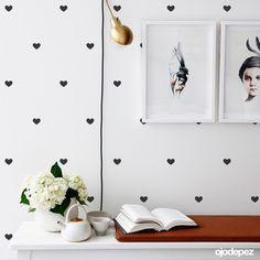 Vinilo decorativo Pack 019: Trama de corazones. Vinilos decorativos Vinilos adhesivos Wall Art Stickers wall stickers