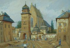 Widok na Stary Kraków Zygmunt WIERCIAK - Aukcja 107 Dzieła Sztuki Antyki DESA…