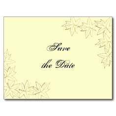 Maple Leaf Edge Wedding Save the Date Postcard