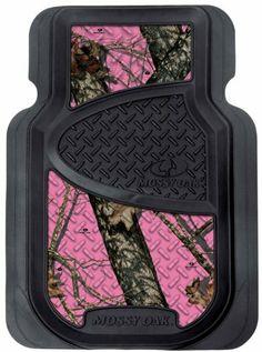Mossy Oak Pink Camo Front Floor Mats - Amazon.com