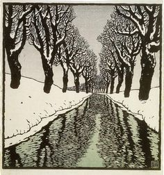 "Carl Theodor Thiemann ""Bach im Winter II"" (1912)"