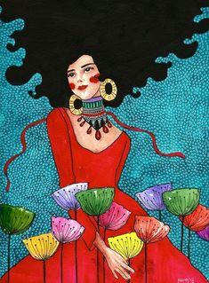 hülya özdemir — no one built this moment Art And Illustration, Illustrations, L'art Du Portrait, Portraits, Art Et Design, Figurative Kunst, Arte Pop, Love Art, Female Art