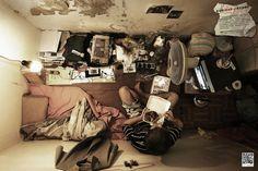 Apertamentos em Hong Kong fotografados do teto   Revelando Ideias
