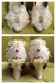 Marie Antoinette chaussures talons Renaissance par HexHeartHollow