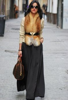 Winter Fashion 2013. Absolutely in love with this look! Stunning fur vest. ::M::