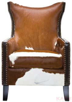 Arm Chair Denver Cow Material: frame:pine wood, birch wood, cover: cowskin, upholstery: foam and silk floss Size: 1,07 x 0,76 x 0,82 m Weight: 23,3 kg Номер пункта: 76343