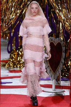 Meadham Kirchhoff | Fall 2014 Ready-to-Wear Collection | Style.com/ Pink or Sheer