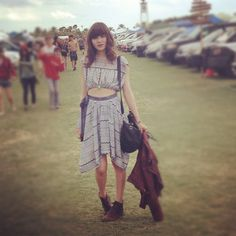 Coachella 2012 - Cutout Dress + Boots
