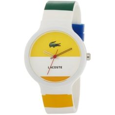 Lacoste Women's 2010530 Goa Multi Color Stripe Silicone Watch - designer shoes, handbags, jewelry, watches, and fashion accessories | endless.com