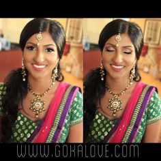 Bride's makeup and hair for her sangeet in New York! Indian Wedding, makeup artist, hairstylist