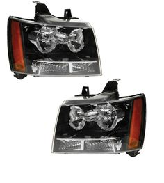 07-12 Chevy Suburban Tahoe Pickup Truck Headlights Headlamps Pair Set of 2 NEW #AftermarketReplacement