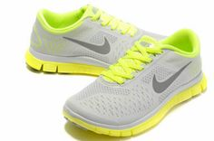 Authentic Nike Shoes For Sale, Buy Womens Nike Running Shoes 2014 Big Discount Off Nike Free Womens Wolf Grey/Yellow-Volt Shoes [ - Nike Air Max Sale, Nike Shoes For Sale, Nike Free Shoes, Nike Shoes Outlet, Running Shoes Nike, Look Fashion, Fashion Bags, Fashion Shoes, Womens Fashion