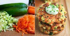 Až zkusíte tyto jednoduché zeleninové placky, budete ohromeni Czech Recipes, Ethnic Recipes, Salmon Burgers, Mashed Potatoes, Zucchini, Eggs, Treats, Pizza, Vegetables