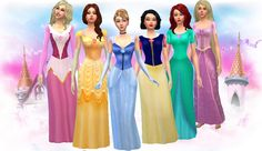 #Sims4 #S4Women | My Sims 4 Blog: Disney and Flamenco Dresses by MaleficaXD Sims 4