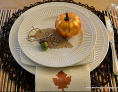 Thanksgiving Tablescape.  Add some gratitude and fun with Lunchbox Love for Thanksgiving! www.sayplease.com