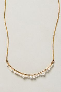 Anthropologie Pearlene Necklace - attach pearls of varying sizes to a long tube bead.