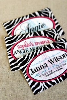 cute tags for favors {zebra theme}