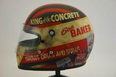 Bell Star Classic B.Baker 2012 by Indocil Art Retro Helmet, Vintage Helmet, Vintage Racing, Motorcycle Helmet Design, Racing Helmets, Motorcycle Gear, Hot Rods, Moto Car, Helmet Paint