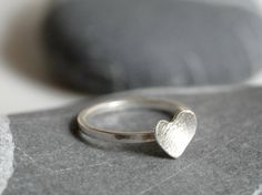 Sterling silver ring with a heart  ring with 7mm heart  by Kosmika, €23.00