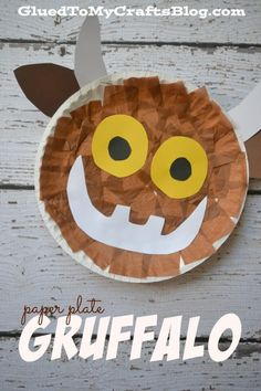 Paper Plate Gruffalo {Kid Craft} - Fall Crafts For Kids Gruffalo Activities, Gruffalo Party, Craft Activities, Preschool Crafts, Kids Crafts, Gruffalo Eyfs, The Gruffalo, Preschool Christmas, Christmas Crafts