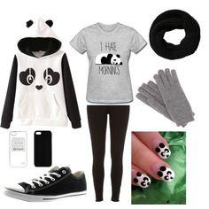 Panda outfit by taisfidabelf on Polyvore featuring polyvore fashion style River Island Converse Loro Piana Maison Takuya