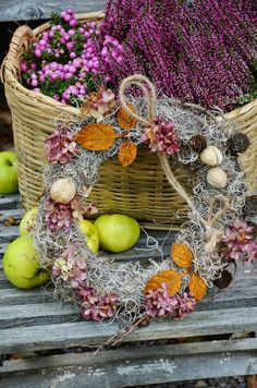 swansong-willows: (via Pin by ~ BJ ~ on ~Autumn's Purple Haze~ Door Wreaths, Grapevine Wreath, Moss Wreath, Fall Vignettes, Autumn Scenes, Fall Door, Arte Floral, Purple Haze, Hello Autumn