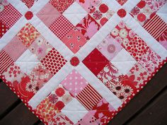 Nine Patch Quilt - Strawberry Patches by Red Pepper Quilts, via Flickr