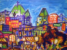 Giclee Canvas Print  Shopping on Robson  8x10 by MorganRalstonArt, $28.00