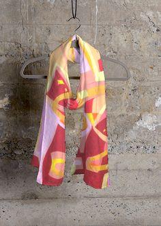 Cashmere Silk Scarf - FLOWER GARDEN by VIDA VIDA Ua8U5SI