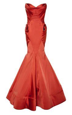 Stretch Duchess Gown by Zac Posen