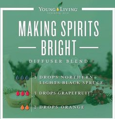 making spirits bright holiday mix from young living Young Essential Oils, Essential Oils Guide, Essential Oils For Sleep, Essential Oil Uses, Essential Oils Christmas, Essential Oil Combinations, Essential Oil Diffuser Blends, Living Oils, Diffuser Recipes