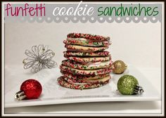 Cookaholic Wife: Funfetti Cookie Sandwiches