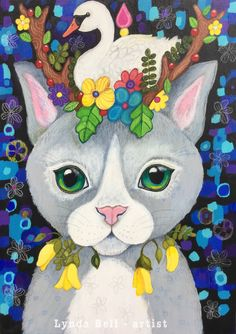 A personal favourite from my Etsy shop https://www.etsy.com/nz/listing/567049692/kowhai-kitty-original-painting