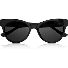 The Row Cat eye leather-trimmed acetate sunglasses ($460) ❤ liked on Polyvore featuring accessories, eyewear, sunglasses, glasses, black, acetate glasses, black cat eye sunglasses, acetate sunglasses, black cat eye glasses and black cateye sunglasses