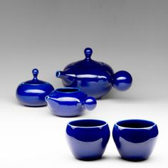 Hey, I found this really awesome Etsy listing at https://www.etsy.com/listing/128982646/bulb-tea-set-cobalt-blue-stoneware
