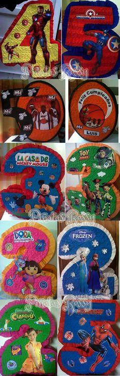 Piñatas Entamboradas De Numeros Con Figura Personalizadas - Caracas - Libertador (suroeste) - en MercadoLibre