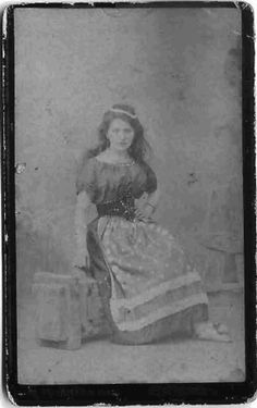 My (whose?) great-great grandmother Mathilde Von Theile, a Sinti-Romani dancer in her dancing clothes. Germany, circa late 1800s or very early 1900s