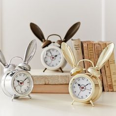 These alarm clocks with some serious ears.
