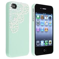 Hand Made Lace and Pearl Green Hard Case Cover for iPhone 4 4G 4S $1.10 #SolidDealio