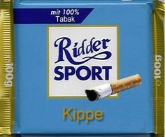 RITTER SPORT Fake Schokolade Kippe..................huh???????????