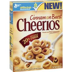 Best Cereal: Cinnamon Burst Cheerios Cereal Another thing I may have to try! Cheerios Cereal, Granola Cereal, Healthy Eating Recipes, Gourmet Recipes, Healthy Snacks, Healthy Life, Healthy Choices, Real Cinnamon, Best Cereal