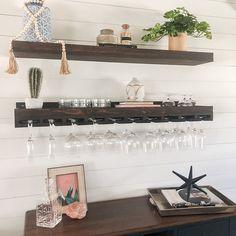 Wine Rack Shelf, Bar Shelves, Wine Shelves, Wood Wine Racks, Wine Rack Wall, Wine Wall, Wall Mounted Shelves, Wooden Shelves, Floating Shelves
