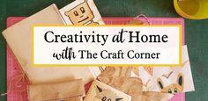 Creativity at home - The Craft Corner: Arts and Craft for all Art And Craft Videos, Easy Arts And Crafts, Arts And Crafts Projects, Fun Projects, Online Art Classes, Making Books, Craft Corner, Spray Painting, Kids House