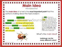 Main Idea Teaching Schools Teaching Reading Reading Main Idea