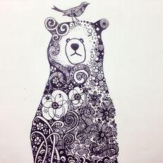 #zentangle #bear