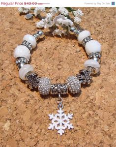 CIJ SALE White Snowballs Snowflakes and Crystal by GirlieGals, $33.60