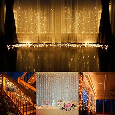 Curtain String Lights, Addlon 304led 9.8*9.8ft Christmas Icicle String Fairy Wedding Led Lights for Home, Holiday, Party, Outdoor Wall, Kitchen,…