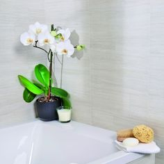 The White Dune stone tile design has a matt finish and gives a stylish and calming feel to your room. This can make small bathrooms look bigger, and every bathroom brighter.